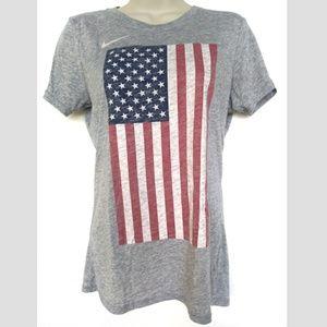 Nike American Flag T Shirt Merica Sz Small Slim